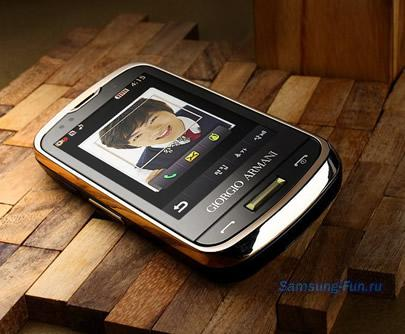 Samsung Giorgio Armani W8200 - стильная новинка на фото